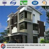 Edificio residenziale prefabbricato garantito installazione rapida della struttura d'acciaio
