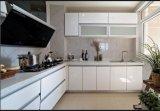 Gabinete de cozinha Home amarelo lustroso elevado de venda quente Yb1709228 da mobília