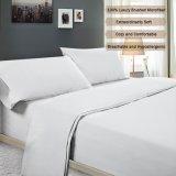 Blanco Super suave microfibra 4 piezas Conjunto de hojas de cama