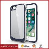Caisse hybride tissée neuve de téléphone de cellule claire de texture pour l'iPhone 7