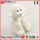 Juguetes blancos suaves rellenos felpa del cordero de las ovejas de ASTM para los cabritos del bebé