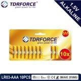 batteria Non-Rechargeable della Cina di fabbricazione 1.5volt con l'iso Lr03/Am-4 approvato