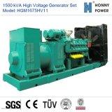 1875kVA de Reeks van de Generator van de hoogspanning 10-11kv met Googol Motor 50Hz