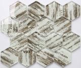 2018新しい装飾の浴室の六角形のガラスモザイク・タイル