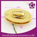 Hardware degli accessori della borsa della serratura di girata del sacchetto dell'oro della lega del metallo di modo