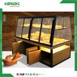Suporte de monitor de pão de madeira Doces de padaria Rack de exibição