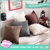 Almofada do sofá trançado pesado de malhas de projeção personalizada Tampa almofadas decorativas