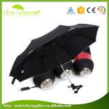 Éclairage LED de qualité annonçant les parapluies promotionnels de parapluie