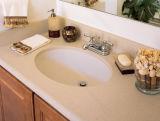 Белые мраморные ванные комнаты в коммерческих целях верхней части зеркала в противосолнечном козырьке