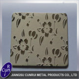304 Color decorativos relieves de la placa de la hoja de acero inoxidable