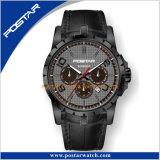 Het Zwarte Multifunctionele Automatische Horloge van Dlc met Miyota 9120 Beweging