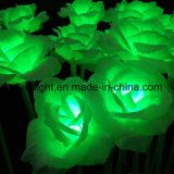 luces del día de fiesta de la luz LED de la cadena de la flor de 24V Rose con el soporte de la pista