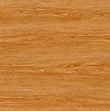 Azulejo de suelo esmaltado mirada de madera de la porcelana del color de Brown del material de construcción