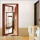 Pnoc080228lsのよい価格のグリルデザインのアルミニウム開き窓のドア