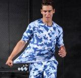 رجال يركض تدريب رياضات تمويه لياقة دعوى سرعة جافّ إمتداد ضغطة لباس داخليّ [ت-شيرت] [جم] قميص قصيرة [سليفس.]