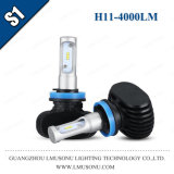 S1 H11 LED Headlamp 12V 4000lm Fanless LED 차 헤드라이트