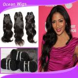 Preço de grosso da extensão natural do cabelo da onda de Remy do Virgin brasileiro humano de 100%
