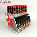 破裂音のロゴデザインエネルギー飲み物の表示デスクトップのアクリルの飲料の陳列台
