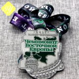 Polícia de metal de alta qualidade Prêmios Militar Fita Medalha desportivo