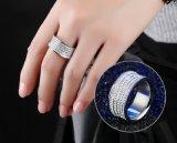 Ring van de Diamant van het roestvrij staal de Stralende voor Vrouwen