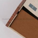 Caixas de madeira sofisticados com superfície de tecido para chá