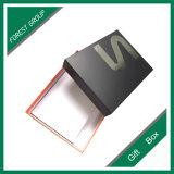 Oberseite-u. Unterseiten-steifer Geschenk-Kasten mit Firmenzeichen-silberner Folie