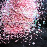 Zeven Rooskleurige Roze Lichte Decoratie Paillette van de Kleur van de Laser van de Kunst van de Spijker van het Blad van de Reeks Hexagon schitteren (B.V. 07)