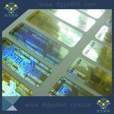 Etiqueta feita sob encomenda do holograma da cor do ouro com números de série