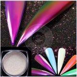 Aurora-Chrom-Spiegel-Regenbogen-glänzendes Nagel-Funkeln-Nixe-Regenbogen-Pigment