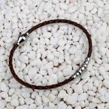 Edelstahl-Leder-Armband-Armband der Frauen der bequemen Art-Männer
