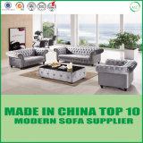 Amerikanisches klassisches Entwurfs-Samt-Gewebe-büscheliges Sofa