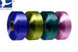 Полиэфирных нитей накаливания 50d/36f FDY Dope Вся обшивочная ткань Micro нити