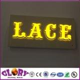 Canal de ré sinais de Letra Logotipo com retroiluminação LED de Aço Inoxidável Letra Halo