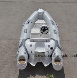 Liya 12.5FT Petit Bateau avec moteur hors-bord à nervure pour la vente