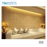 Panneau 3D insonorisant décoratif intérieur de fibre de polyester de Retartant de flamme pour le bureau/salle de réunion