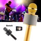 Des Goldrosen-mini bewegliches Mikrofon schwarzes Bluetooth Karaoke-drahtloses Lautsprecher-KTV