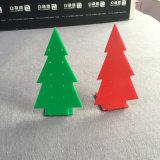 Сформированный рождественской елкой акриловый держатель индикации серьги шкафа ювелирных изделий