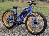 Bicicleta elétrica gorda do motor médio da bateria de lítio da potência verde com En15194