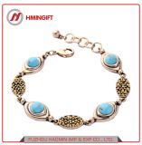 Einfache Form-Schmucksache-Zubehör personifizierten blaues Edelstein-Armband-Armband