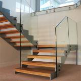 Escada de Vidro Antigo desenhos com mármore Mono Duplo Stringer