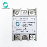 Le SSR-10va 10A 1M 1/2W 24-380va d'entrée du régulateur de tension de sortie de relais de l'état solide SSR