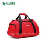 昇進の高品質靴コンパートメントが付いているカスタムポリエステル防水ダッフルバッグのスポーツ旅行袋の携帯用ケース