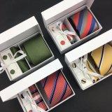 100 % Cravate en Soie tissée à la main les boutons de manchette Hanky avec Box Set