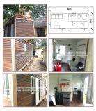 クラッディングのパネルおよび家具によって生存のための20FTの容器のホーム