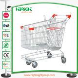 Metal supermercado Compras con ruedas ascensor