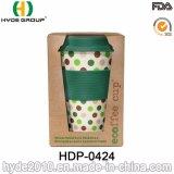 Populares 450ml de fibra de bambu chávena de café com tampa de silicone