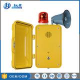 Resistente a la humedad de teléfono de emergencia de túnel con la radiodifusión, manos libres Teléfono Industrial con lámpara parpadeante&cuerno