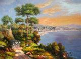 Hizo el chino clásico de alta calidad paisaje Óleo sobre tela