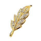 Movimentações genuínas de varejo do flash do polegar da colar da folha de plátano da jóia na chave