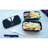 Casella di pranzo di plastica di Bento del contenitore di alimento con Spork 20002